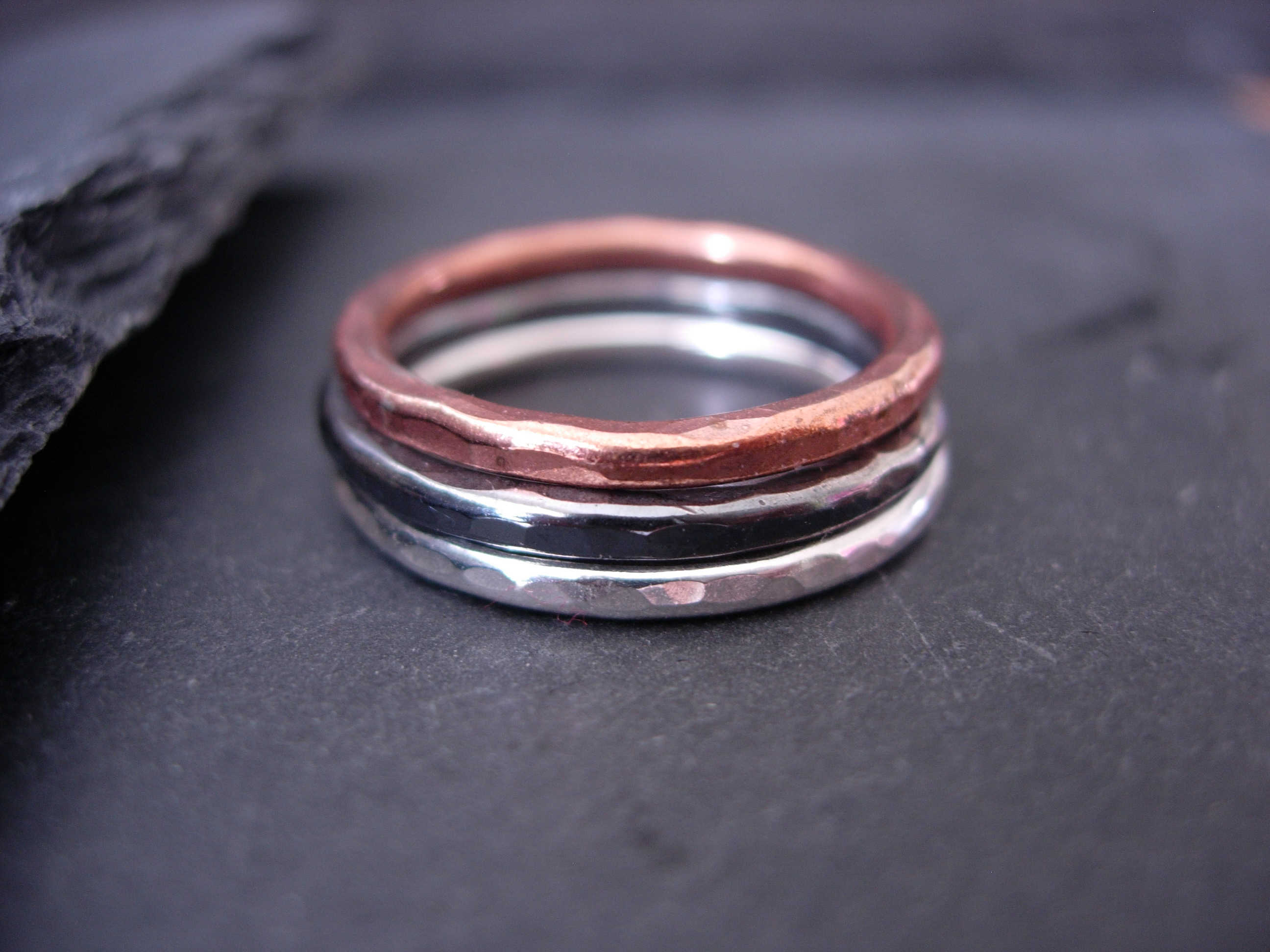 a mens cool crazyassjewelry custom rings made copper unique ring braided band buy coper wedding silver mixed metal by